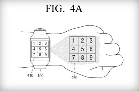 Samsung quiere que sus relojes inteligentes proyecten imágenes en tu mano