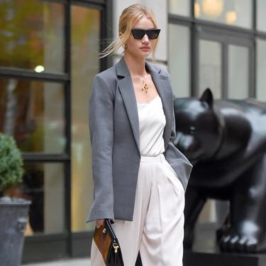 La vuelta de las vacaciones más estilosa viene de la mano de Rosie Huntington-Whiteley