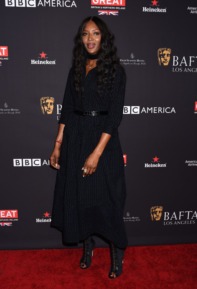 tea party bafta alfombra roja Naomi Campbell