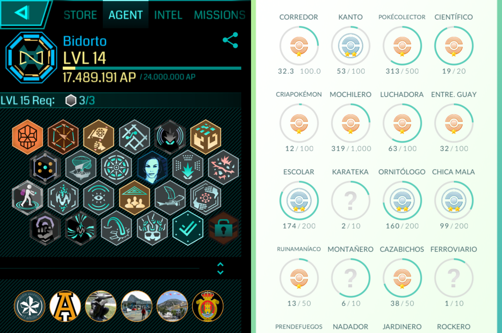 Pokemon Ingress Medals