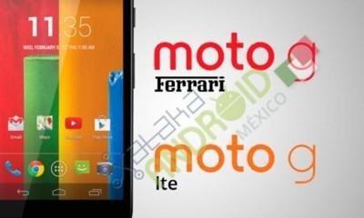 Moto G LTE y Moto G Ferrari, nuevas versiones para el superventas de Motorola