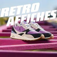 Le Coq Sportif en clave púrpura: zapatilla LCS R800 Retro Affiches Le Lavandou