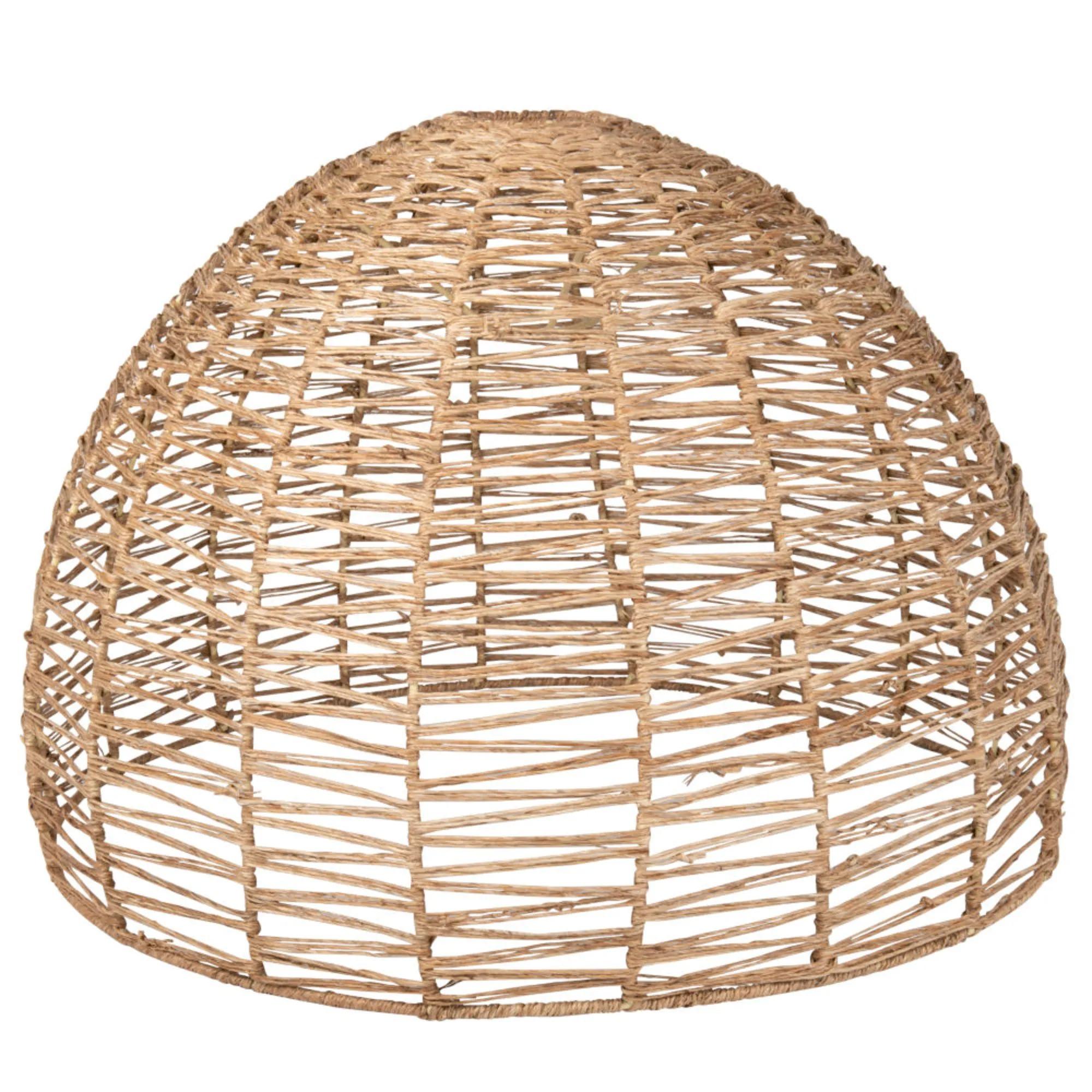 Pantalla para lámpara de techo de fibra vegetal