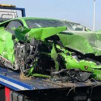 Estrellan un Lamborghini Huracán prestado en Huelva, se dan a la fuga... y los pillan en el hospital