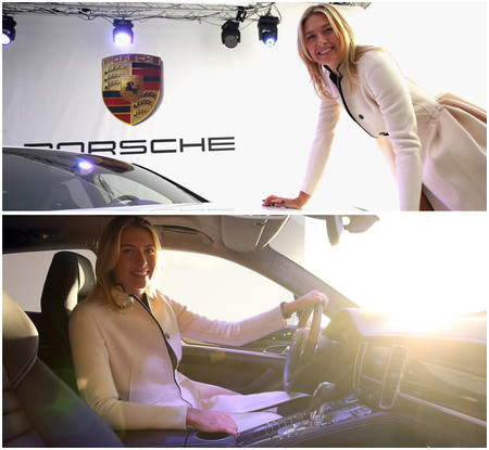 La tenista Maria Sharapova recibe un Porsche Panamera GTS
