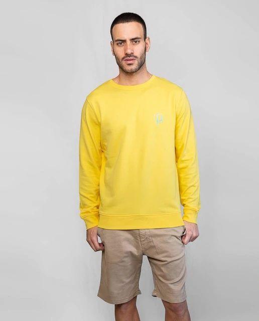 Sudadera de cuello redondo en color amarillo de LA PROMENADE