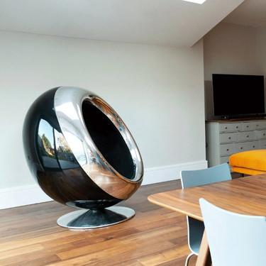 Estos sorprendentes sillones están hechos con motores de avión y nos encanta la idea como pieza decorativa de estilo industrial