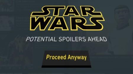 Sí, también podemos utilizar una extensión de Chrome para filtrar los spoilers de Star Wars