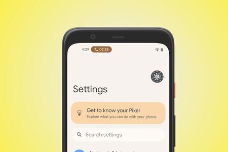 Android 12 añade un aviso más visible cuando estás en una llamada de teléfono