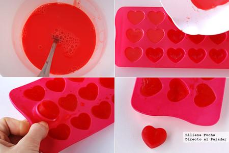 Cómo hacer cubitos corazón para San Valentín