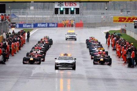 La parrilla de salida del primer GP de Corea del Sur de Fórmula 1 en 2010