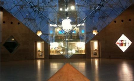 apple store louvre paris francia