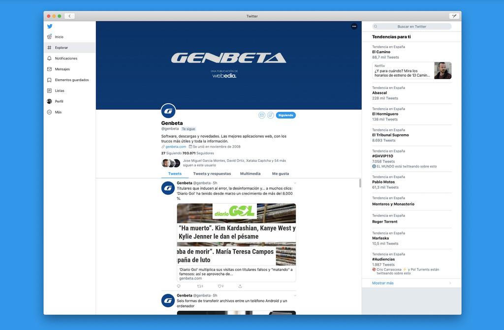 Twitter lanza el prometido cliente oficial para macOS Catalina con Project Catalyst: lo hemos probado