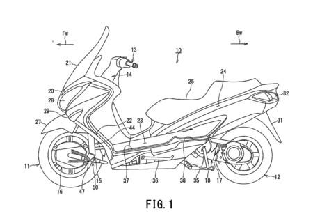 Híbrido y con dos ruedas motrices, así podría ser el futuro Suzuki Burgman