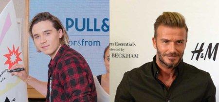 Los Beckham se hacen la competencia: David y Brooklyn, imagen de marcas rivales