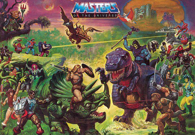 Una imagen de los juguetes de Masters del Universo