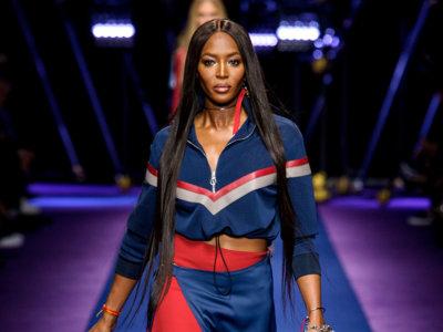 Naomi Campbell, la reina de la pasarela en el desfile de Versace