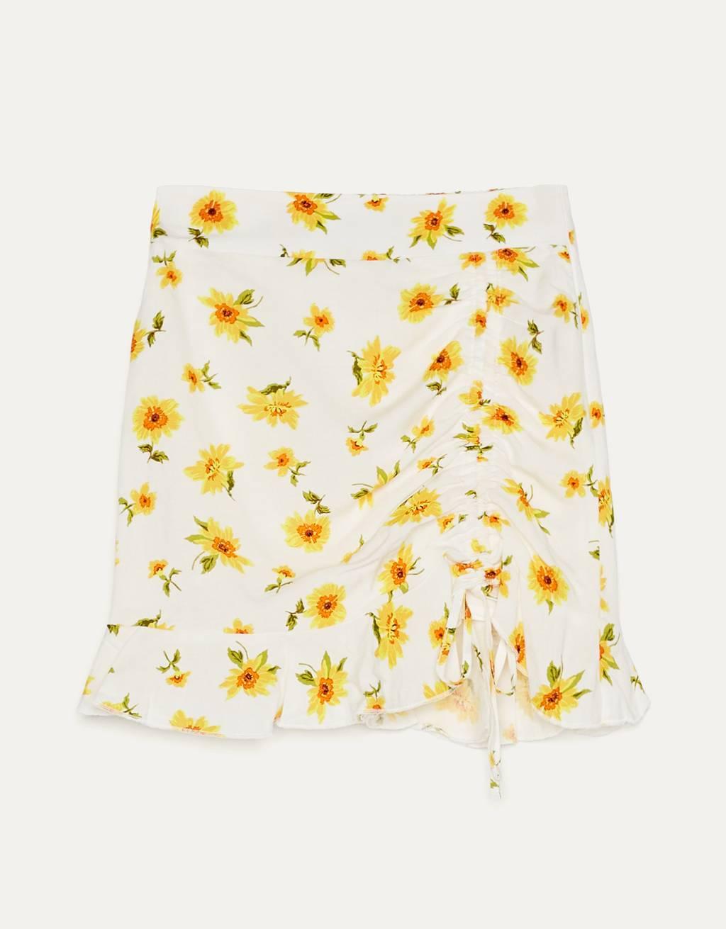 Falda print flores.