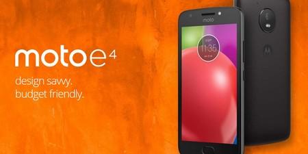 Motorola Moto E4, en versión 16GB+2GB, por 99 euros y envío gratis