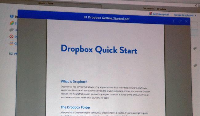 Dropbox Previsualización