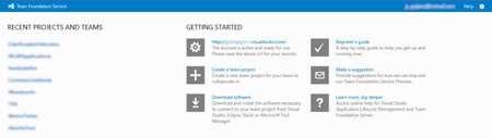 Proyectos en Team Foundation Service