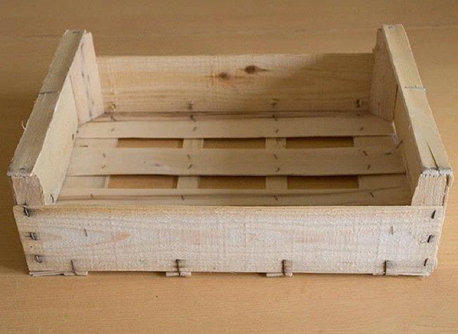 Recicladecoraci n cinco usos para cajas de fruta de madera - Decorar una caja de fruta ...