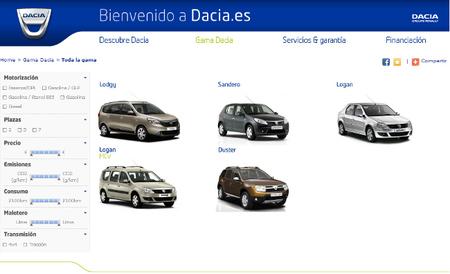 Precios para España de los Dacia Sandero, Duster y Lodgy