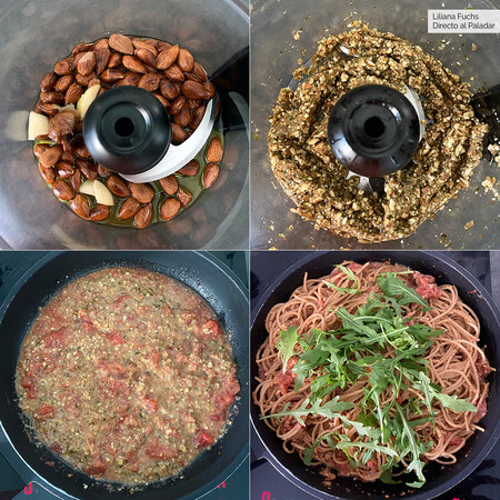 Pesto Vegano. Pasos