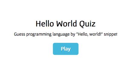 Hello World!: El juego dominical