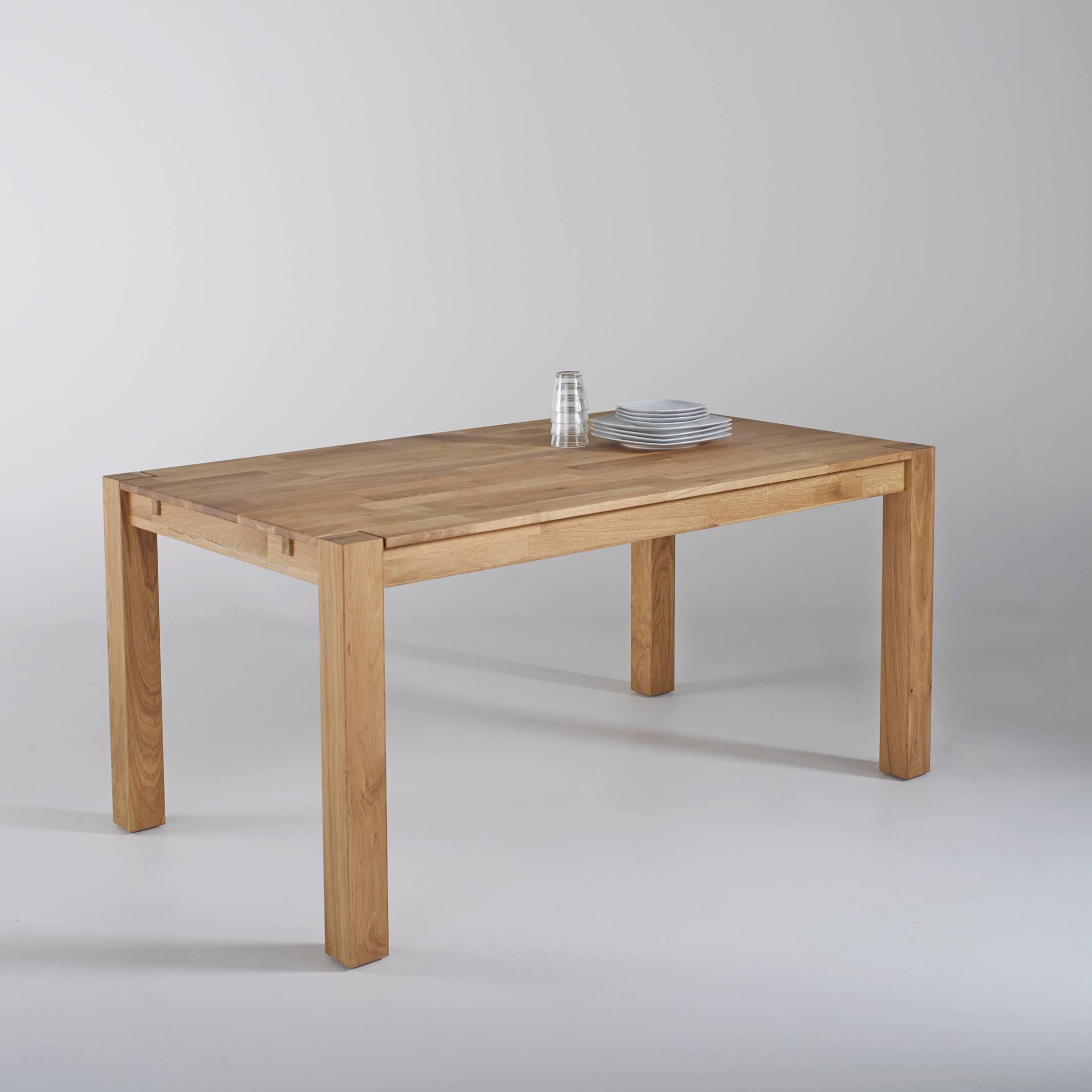 Mesa de comedor de roble, 2 extensiones, Adelita