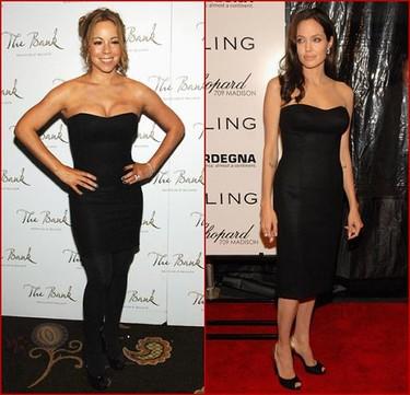 Vestido de Versace ¿Angelina Jolie o Mariah Carey?