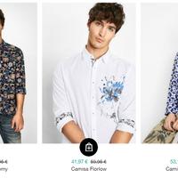 Desigual rebaja 37 camisas de hombre un 30%. Envío gratis a partir de 50 euros de gasto