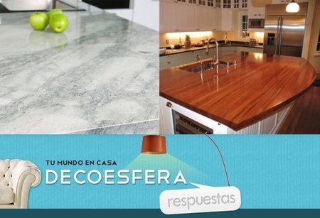 ¿De qué material prefieres las encimeras de la cocina? La pregunta de la semana