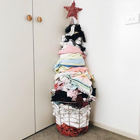El árbol de Navidad más original de una madre de tres