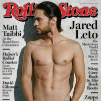 Jared Leto sin camiseta y con pelo repeinado en la portada de la Rolling Stone
