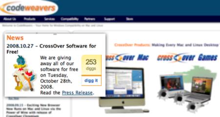 Descarga CrossOver gratis, solamente mañana día 28 de Octubre