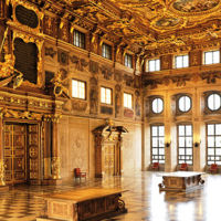 El gran Salón Dorado del Ayuntamiento de Ausburgo