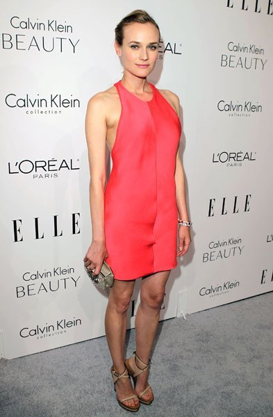 Gwyneth Paltrow, Hilary Swank, Diane Kruger de Calvin Klein en el Anual Elle Homenaje a las Mujeres en Hollywood