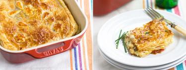 Hojaldre de brandada de bacalao con pimientos asados, receta para sorprender