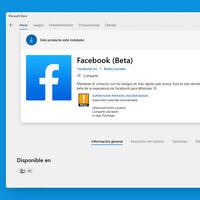 La app de Facebook para Windows 10 ha vuelto a la Tienda de Microsoft