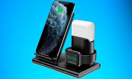 Vuelve la oferta: hoy puedes hacerte de nuevo con la base de carga para iPhone, Apple Watch y AirPods de Seneo por menos de 20 euros