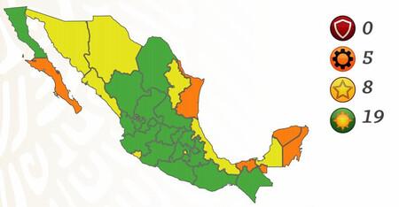 México se congela en el semáforo por COVID: todos los estados quedan en el mismo color mientras se revisa la metodología del semáforo