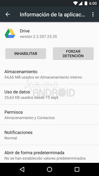 Información aplicación