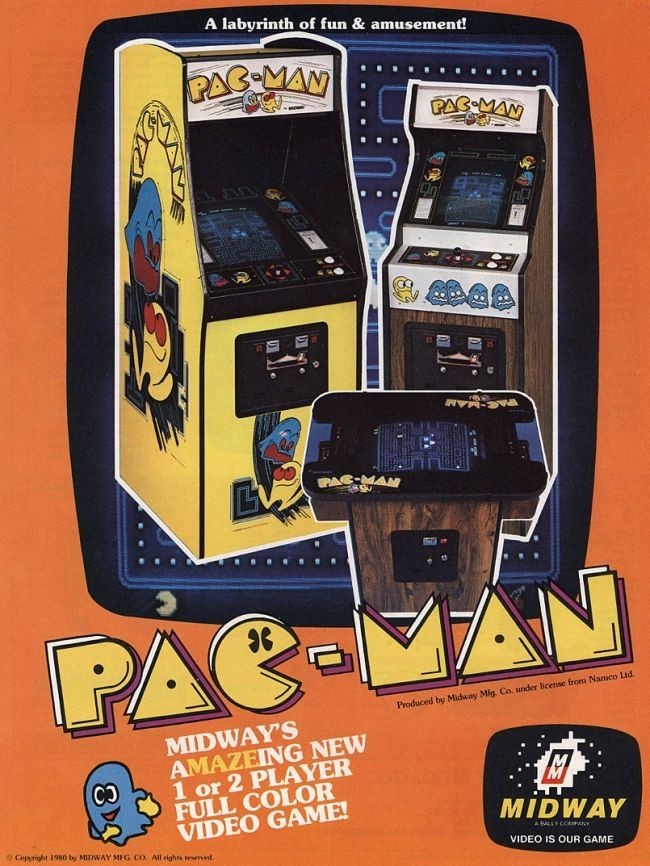 Flyer de Pac-man de 1980