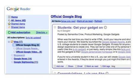 Descubriendo el nuevo Google Reader