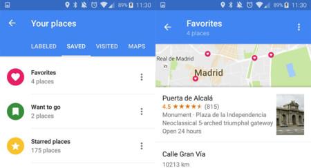 Google Maps Beta te permite guardar lugares en listas, en vez de solo con estrellas