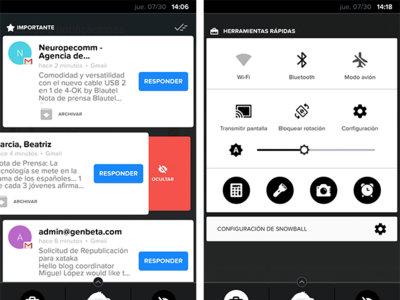 Snowball, una interesante alternativa para el centro de notificaciones de Android