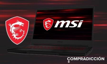 Este portátil gaming cuesta 210 euros menos en el Electro 3 de El Corte Inglés: MSI GF63 Thin 10SCSR-835ES por 1.189 euros