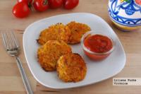 Medallones o fritters de zanahoria y patata. Receta saludable