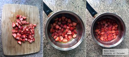 Fresas Yogur Pasos